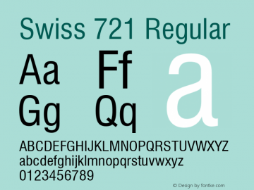 Swiss 721 Condensed Version 2.0-1.0图片样张