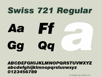 Swiss 721 Black Italic Version 2.0-1.0图片样张