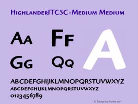 HighlanderITCSC-Medium Medium Version 1.00 Font Sample