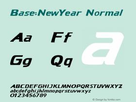 Base:NewYear Normal 1.0 Mon Sep 18 11:12:37 1995 Font Sample