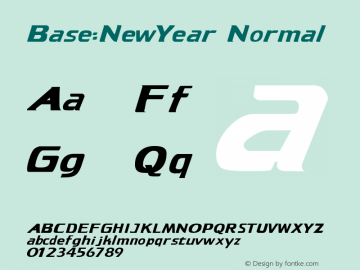 Base:NewYear Normal 1.0 Mon Sep 18 11:12:37 1995 Font Sample