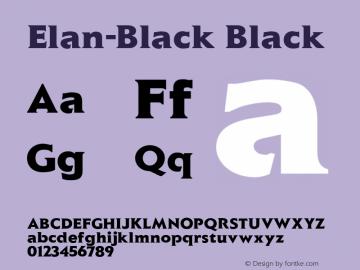Elan-Black Black Version 1.00 Font Sample
