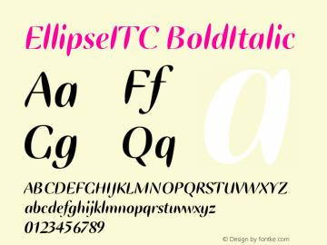 EllipseITC BoldItalic Version 1.00 Font Sample