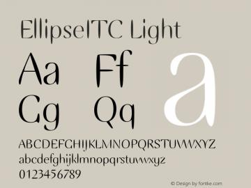 EllipseITC Light Version 1.00 Font Sample