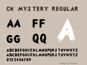 CK Mystery Regular 9/12/00 Font Sample