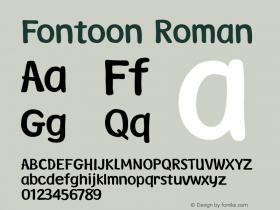 Fontoon Roman Version 1.00 Font Sample