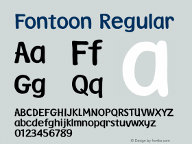 Fontoon Regular Version 003.001 Font Sample