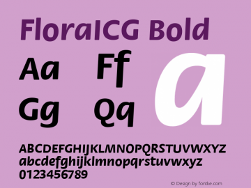 FloraICG Bold Version 1.00 Font Sample