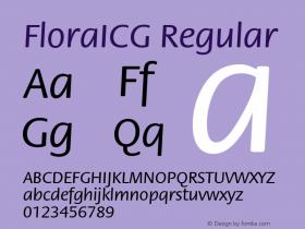FloraICG Regular 001.000 Font Sample