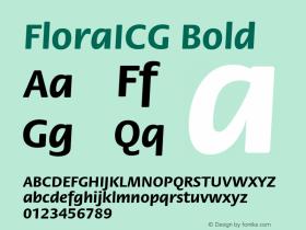 FloraICG Bold 001.000 Font Sample