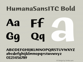 HumanaSansITC Bold Version 1.00 Font Sample