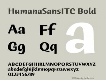 HumanaSansITC Bold Version 1.00 Font Sample