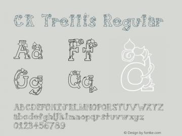 CK Trellis Regular 10/2/00 Font Sample