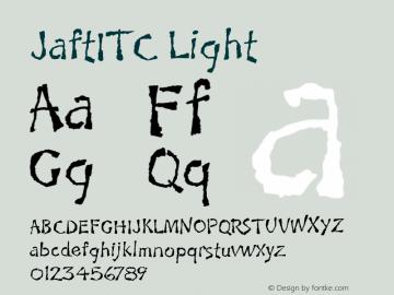 JaftITC Light Version 1.00 Font Sample
