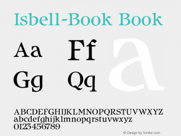 Isbell-Book Book Version 1.00 Font Sample