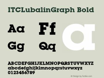 ITCLubalinGraph Bold Version 1.00 Font Sample
