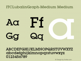 ITCLubalinGraph-Medium Medium Version 1.00 Font Sample