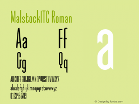MalstockITC Roman Version 1.00 Font Sample