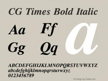 CG Times Bold Italic Version 1.01图片样张