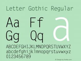 Letter Gothic Version 1.01图片样张