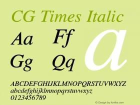 CG Times Italic Version 1.01图片样张