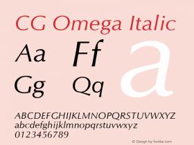 CG Omega Italic Version 1.01图片样张