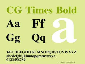 CG Times Bold Version 1.01图片样张