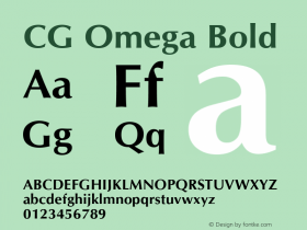 CG Omega Bold Version 1.01图片样张
