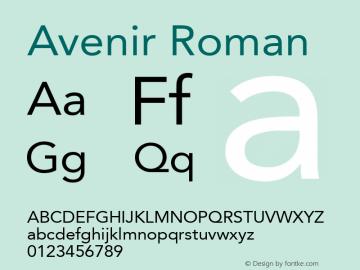 Avenir Roman 8.0d5e4图片样张
