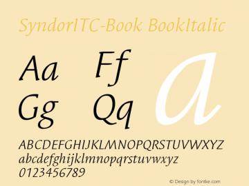 SyndorITC-Book BookItalic Version 1.00 Font Sample