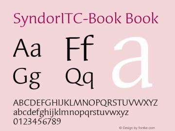 SyndorITC-Book Book Version 1.00 Font Sample