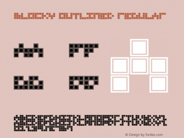 Blocky Outlined Regular Macromedia Fontographer 4.1 12/6/96 Font Sample