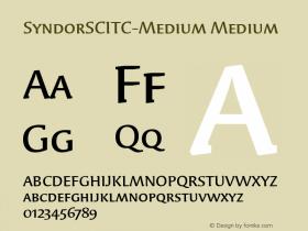 SyndorSCITC-Medium Medium Version 1.00 Font Sample