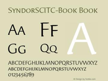 SyndorSCITC-Book Book Version 1.00 Font Sample
