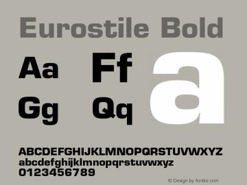 Eurostile-Bold 001.002图片样张