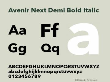 Avenir Next Demi Bold Italic 13.0d1e10图片样张