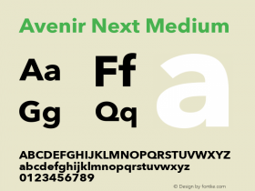 Avenir Next Medium 13.0d1e10图片样张