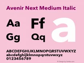 Avenir Next Medium Italic 13.0d1e10图片样张