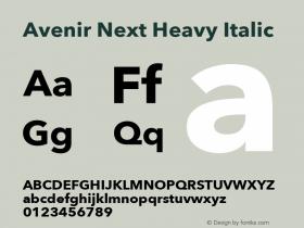 Avenir Next Heavy Italic 13.0d1e10图片样张