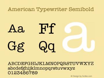 American Typewriter Font,American Typewriter Semibold Font