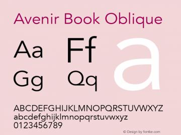 Avenir Book Oblique 13.0d3e1图片样张