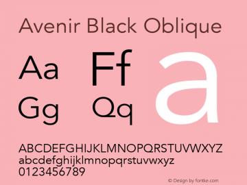 Avenir Black Oblique 13.0d3e1图片样张