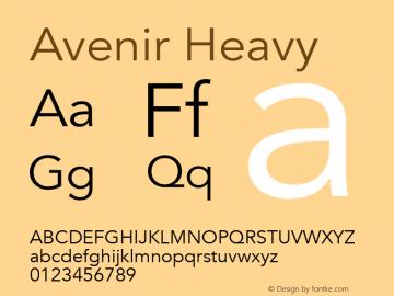 Avenir Heavy 13.0d3e1图片样张