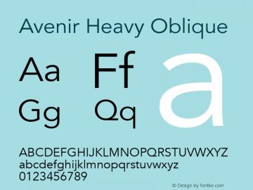 Avenir Heavy Oblique 13.0d3e1图片样张