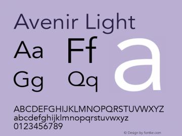 Avenir Light 13.0d3e1图片样张