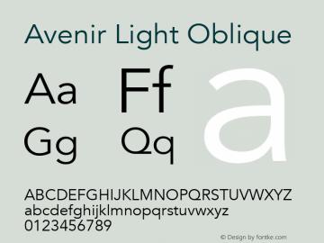 Avenir Light Oblique 13.0d3e1图片样张