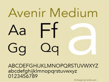 Avenir Medium 13.0d3e1图片样张