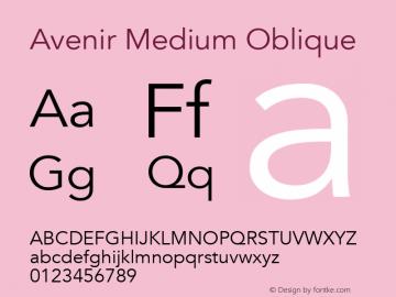 Avenir Medium Oblique 13.0d3e1图片样张