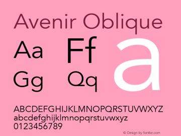 Avenir Oblique 13.0d3e1图片样张