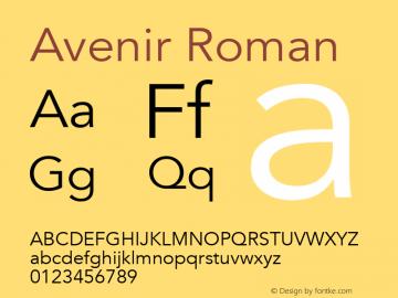 Avenir Roman 13.0d3e1图片样张